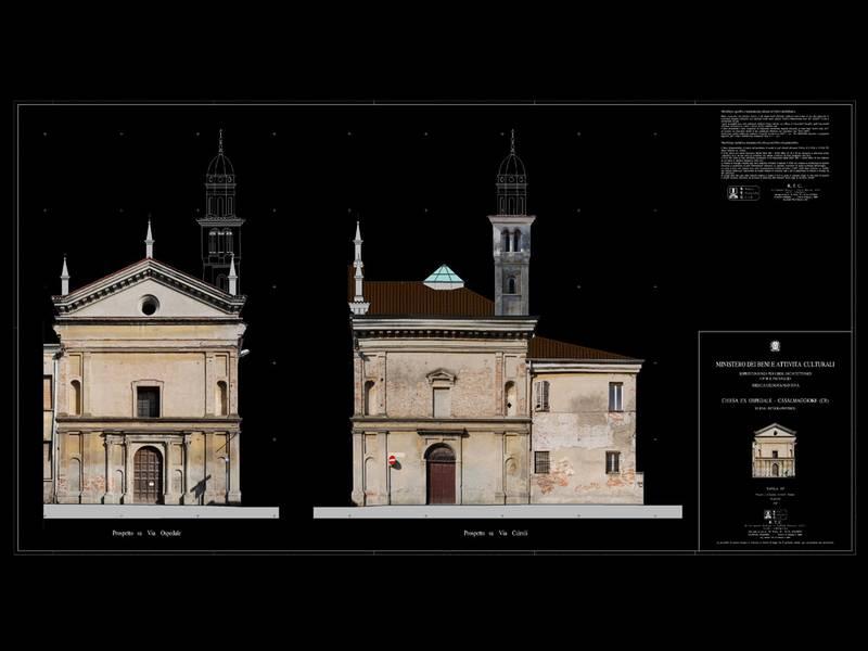 Chiesa ex ospedale casalmaggiore cr r t c - Prospetti esterni ...
